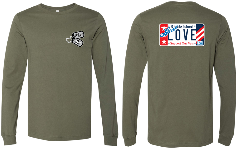 Veterans Long Sleeve Tee Military Green